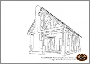 timber construction sketches