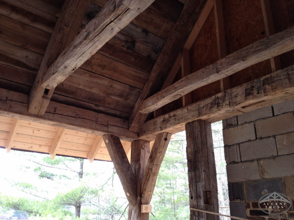 Custom timber frame home construction company for Timber frame accents